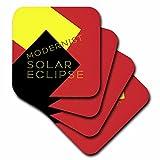 3dRose Alexis Design - Art - Modernist Solar Eclipse Art - set of 4 Ceramic Tile Coasters (cst_271749_3)