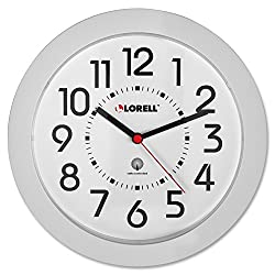 Lorell Wall Clock, 9-Inch, White Dial/White Frame