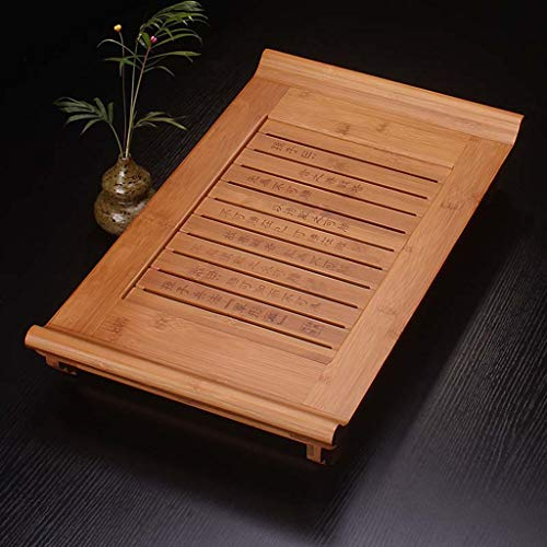 Bamboo Tea Tray Home Simple Living Room Bamboo Tea Table Kung Fu Tea Set Tray Chinese Tea Set Tray Table Tea Set Tea Tray Coffee Table Wooden Tea Tray Tea Set Tea Table Chinese Tea Culture by GQQ (Image #6)