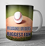 Milwaukee Brewers Biggest Fan Baseball Mug - Birthday Gift / Stocking Filler (7 - 10 BUSINESS DAYS DELIVERY FROM UK)