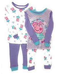 Peppa Pig - Bailarina Infantil (4 Piezas, algodón, 2 Unidades), Color Morado