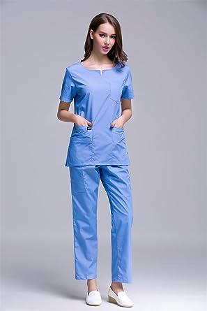 Xuanku Nuevo Diseño Manga Corta Médicos Enfermeras Scrub Sets Hospital Uniforme Quirúrgico Beauty Shop Clínica Dental