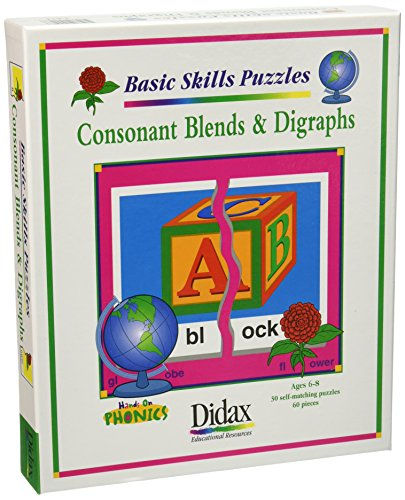 Didax Educational Resources Consonant Blend & Digraph (Digraphs Puzzles)