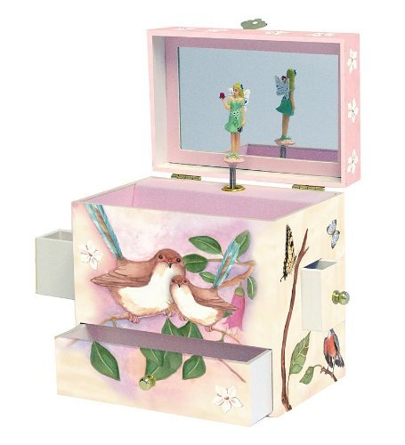 Enchantmints Sweet Fairy Wrens Music Jewelry Box