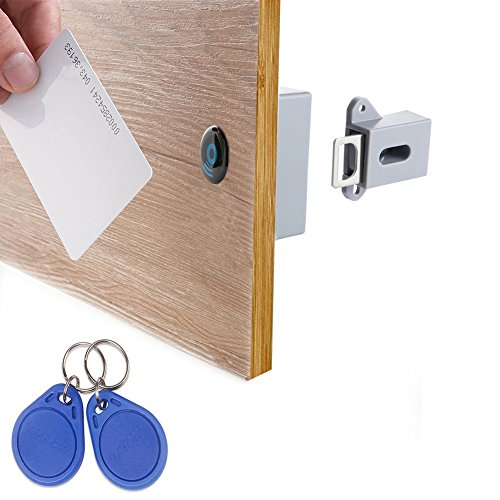 WOOCH RFID Locks for Cabinets Hidden DIY Lock - Electronic Cabinet Lock, RFID Card/Tag/Wristband Entry