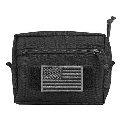 AMYIPO MOLLE Pouch 7×5×2.5 Multi-Purpose Compact Tactical Waist Bags Utility Pouch (Black Plus)