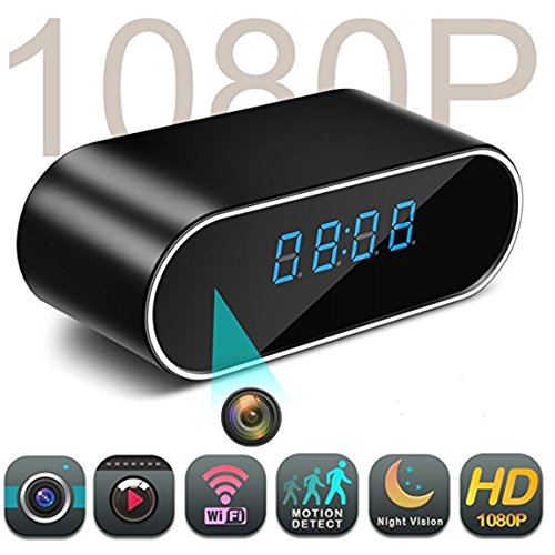 最低价格 Spy Camera,Stonecock Hidden Camera Clock WiFi hidden Cameras 1080P Video Recorder Wireless for Indoor