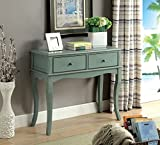 ComfortScape Sia 2 Drawer Storage Hallway Table in Antique Teal