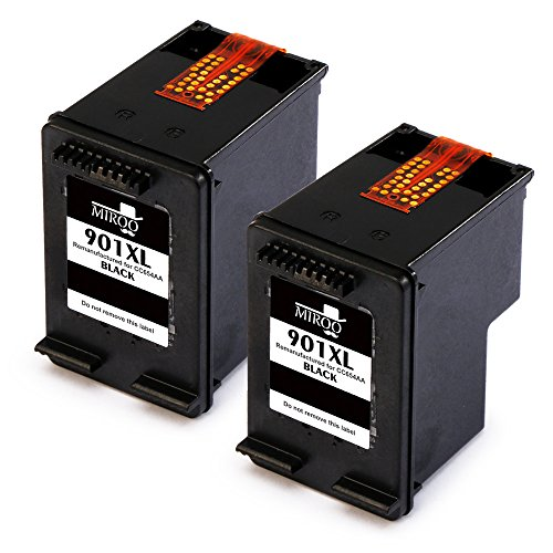 MIROO Remanufactured HP 901XL 901 Ink Cartridges 2 Black High Yield,Work for HP OfficeJet J4540 J4580 J4660 G510a J4680c G510n J4524 J4550 4500 J4624 J4640 J4680 G510g (J4680 Inkjet Printer)