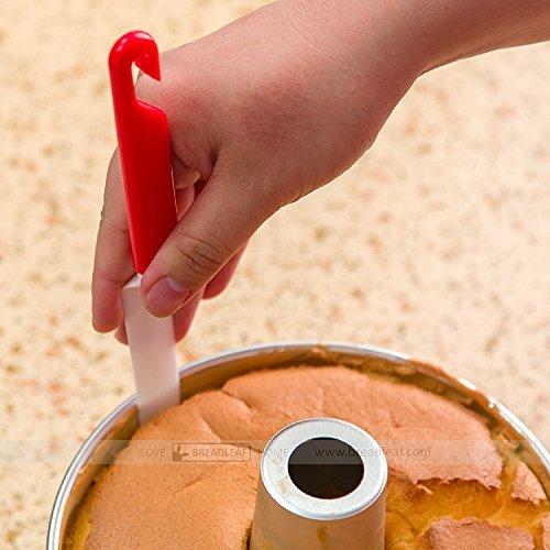Astra Gourmet 1pc de plástico pastel raspador Cuchillo de hoja de corte para desmontar de untar, 22,8cm, largo (Rojo y...
