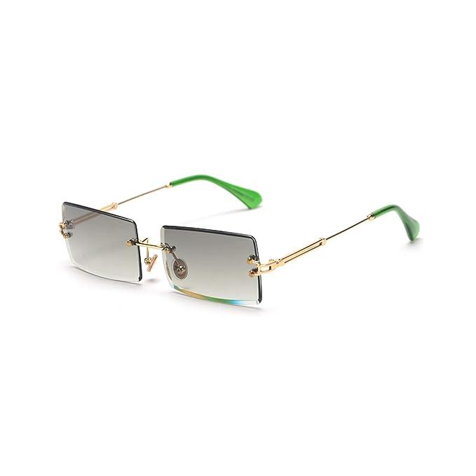 Amazon.com: Gafas de sol para mujer con montura sin bordes ...
