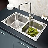 26 Inch Kitchen Sinks Stainless Steel with Free Water Drain Liquid Soap Dispenser