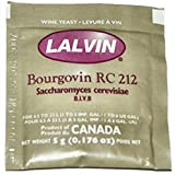 5x Lalvin RC 212 Yeast Red Wine 5g Homebrew Wine