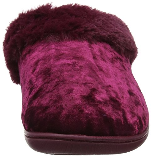 Berry Isotoner Slippers Femme Mules Chaussons Velour Crushed Rose C01SCqO6