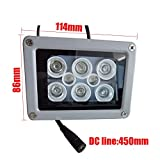Product review for 850NM 60 Degrees Fill Light Outdoor Waterproof 50m DC 12V 2A Illuminator Fill Assist Night Vision Infrared 8 LED IR Lights For CCTV Security Camera
