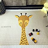 IHEARTYOU Baby Crawling Mat Cute Giraffe Play Carpet Children Bedroom Decor Living Room Rugs