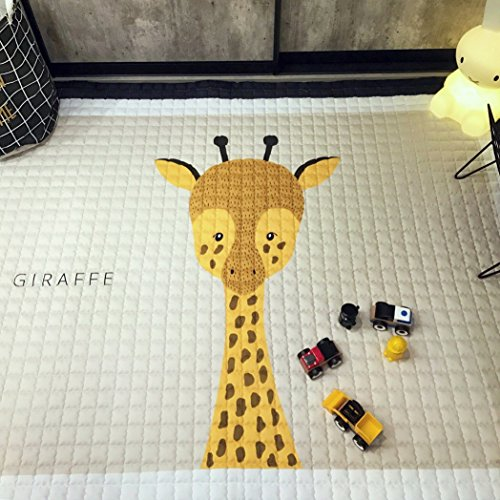 Thick Cotton Baby Crawling Mat Cute Giraffe Play Carpet Children Bedroom Decor Living Room Rugs by IHEARTYOU