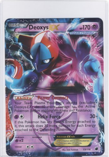 - Pokemon Jumbo DEOXYS EX Promo Card #53/116 LARGE SIZED!