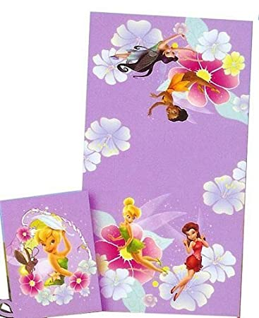 2 Pcs Tinkerbell Bath Towel Set   Disney Tinker Bell Fairies   Also For The