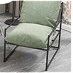 XINTONGSPP-Moderna-di-Ferro-Art-Hall-Divano-Solido-di-Colore-Fabric-DesignBella-Linea-Design-Moderno-Stile-Personale-Adatto-per-la-casa-TerrazzaOutdoor-CortilePiscina-Verde