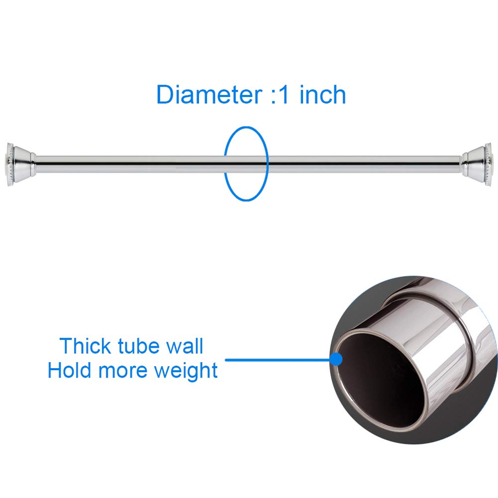 Amazer Spring Tension Curtain Rod - 42-72'' Rust-Resistance Shower Curtain Rod, Chrome by Amazer (Image #4)