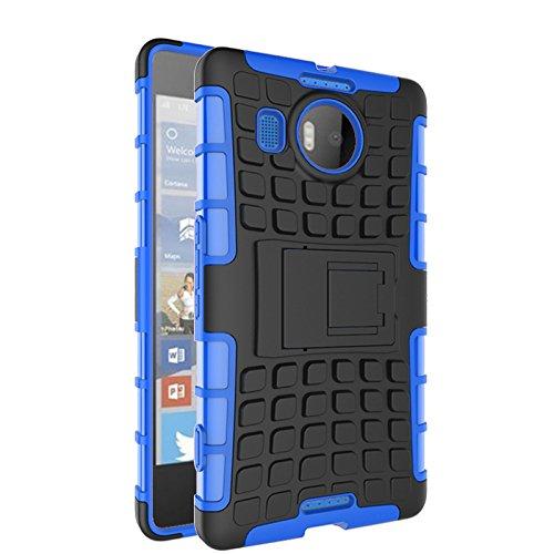 Microsoft Lumia 950 XL Funda,COOLKE Duro resistente Choque Heavy Duty Case Hybrid Outdoor Cover case Bumper protección Funda Para Microsoft Lumia 950 XL - púrpura Azul