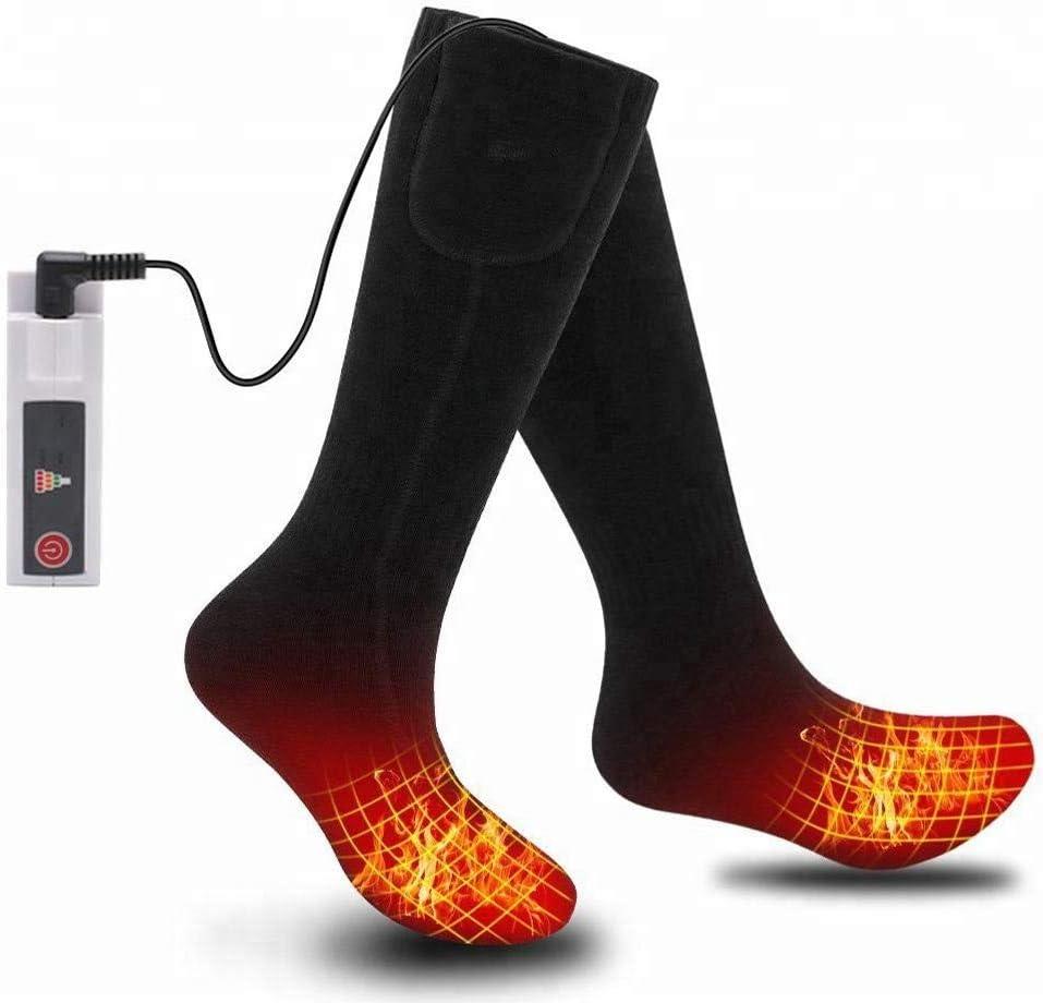 Calcetines T/érmicos de Invierno con Bater/ía Recargable para Deportes al Aire y Motociclismo Calcetines Calefactables Electricos para Hombre y Mujer con Remoto Control para Ajustar Temperaturas