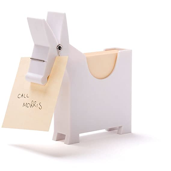 Morris The Donkey - Desktop Note Pad, Note Dispenser and Pen Holder, for Memo, Notes, Bock of 140 Blanks, Black/Red / White.