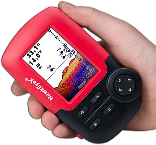 HawkEye Fishtrax 1C Fish Finder with HD Color Virtuview (Frequency Sonar Fishfinder)