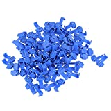 WEONE Blue Snap On Connector Crimp Wire Electrical Cable Connectors Quick Splice Lock Wire Terminals (Pack Of 100)