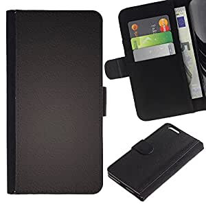 KingStore / Leather Etui en cuir / Apple Iphone 6 PLUS 5.5 / Uniforme color Una textura del metal