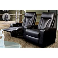 Pavillion 2-Seat Theater Sectional (Black)