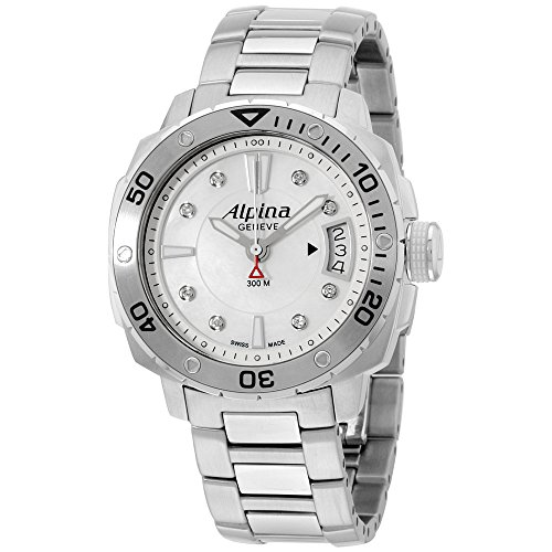 Alpina Seastrong MOP Dial Stainless Steel Ladies Watch AL240LSD3V6B
