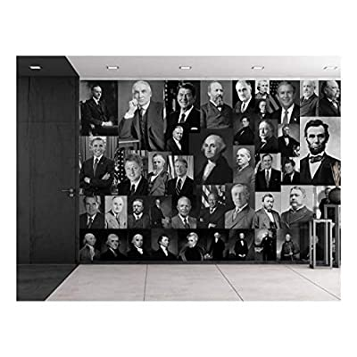 That You Will Love, Delightful Picture, Peel and Stick Wallpapaer Presidents of United States Collage Removable Large Wall Mural Creative Wall Decal