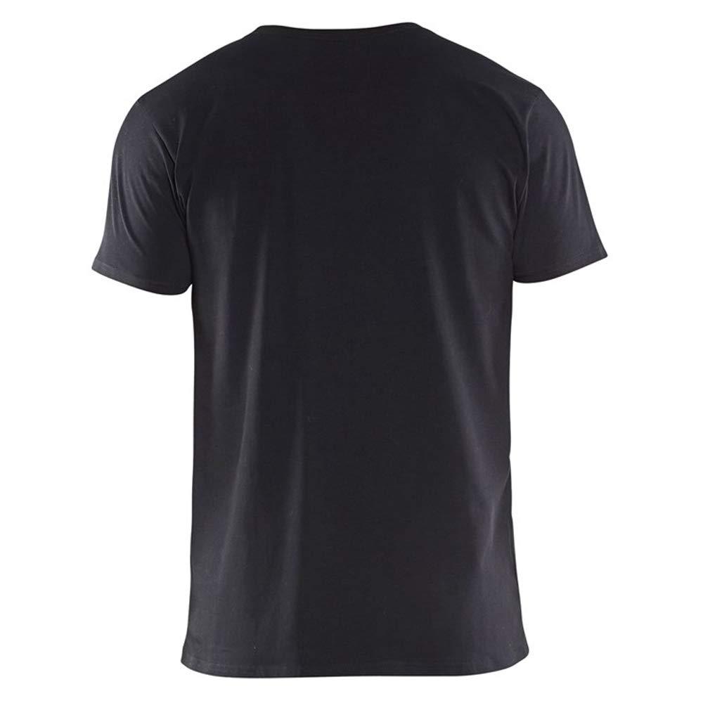 T-shirt slim fit Schwarz 4XL