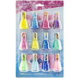 Townley Girl Disney Princess Peel-Off Nail Polish Gift Set for Kids, 12 Count