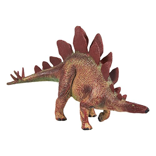 Juvale Dinosaur Toy Stegosaurus Figurine - Realistic Plastic Toy Dinosaur Figure for Children, Themed Parties, Decorations, Brown - 6.5 x 3.7 x 1.7 inches -