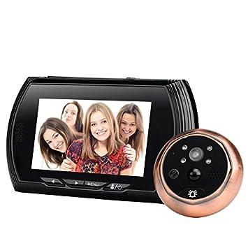 BW Smart timbre mirilla de puerta cámara – 1/4 pulgadas CMOS Sensor, 720P