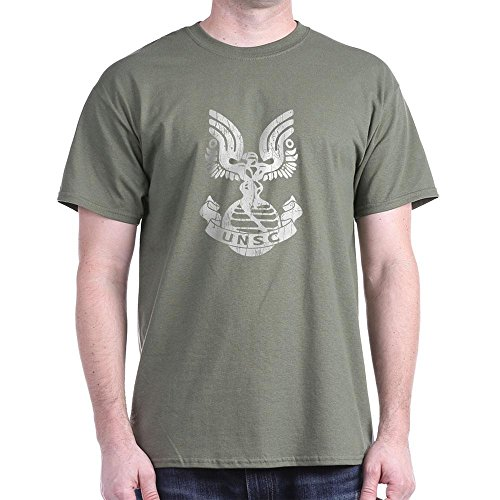 CafePress UNSC Halo Reach T-Shirt 100% Cotton T-Shirt Military Green (Halo Odst Shirt)