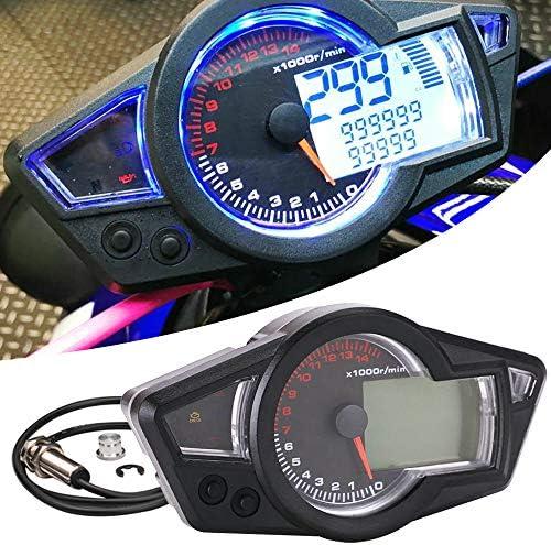 Kkmoon Tacho Motorrad Speed Meter 0 14000 Rpm Geschwindigkeitsmesser Wasserdichte Digitale Hintergrundbeleuchtung Für Lcd Motorrad Instrument Tachometer 199 Km H Auto