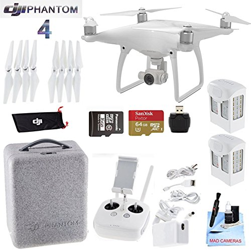 DJI-Phantom-4-Package-Includes-2-Intellegent-In-Flight-Battery-Extra-64GB-Micro-SD-Memory-Card