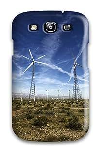 New Windmills In The Desert Tpu Case Cover, Anti-scratch ZippyDoritEduard Phone Case For Galaxy S3