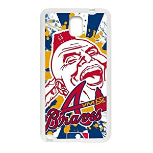 Atlanta Braves Design Hard Case Cover Protector For Samsung Galaxy Note3