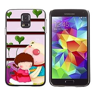 Paccase / SLIM PC / Aliminium Casa Carcasa Funda Case Cover - Cute Couple Cute - Samsung Galaxy S5 SM-G900