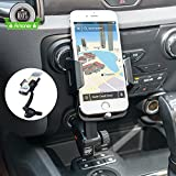 [Updated Version] 3-in-1 Multifunctional Car Mount + Car Charger + Cigarette Lighter Power Adapter, Amoner Universal Car Mount w/ Dual USB 3.1A Phone Charger for iPhone, Samsung and More Smartphones