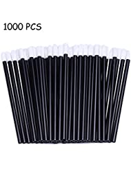 1000 Pcs Disposable Lip Brushes Lip Gloss Wands Applicator Lipstick Makeup Brush with Black Handle