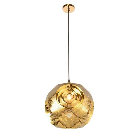 Lámparas modernas Globo jaula minimalista Spotlight luces de techo colgante Bombillas LED E27 metal forjado en
