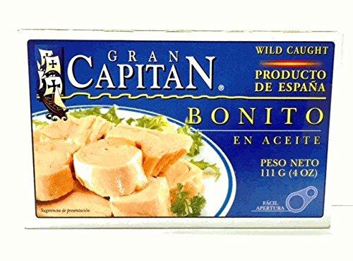 Gran Capitan Bonito en Aceite/Tuna Fish in Oil 4oz 2 Pack