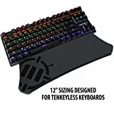 ENHANCE Gaming Keyboard Wrist Rest Pad for Tenkeyless Mechanical Compact Keyboards with Ergonomic Support , Non-Slip Rubber Backing , No-Fray Design - Great with Corsair , CM Storm , Logitech , Razer