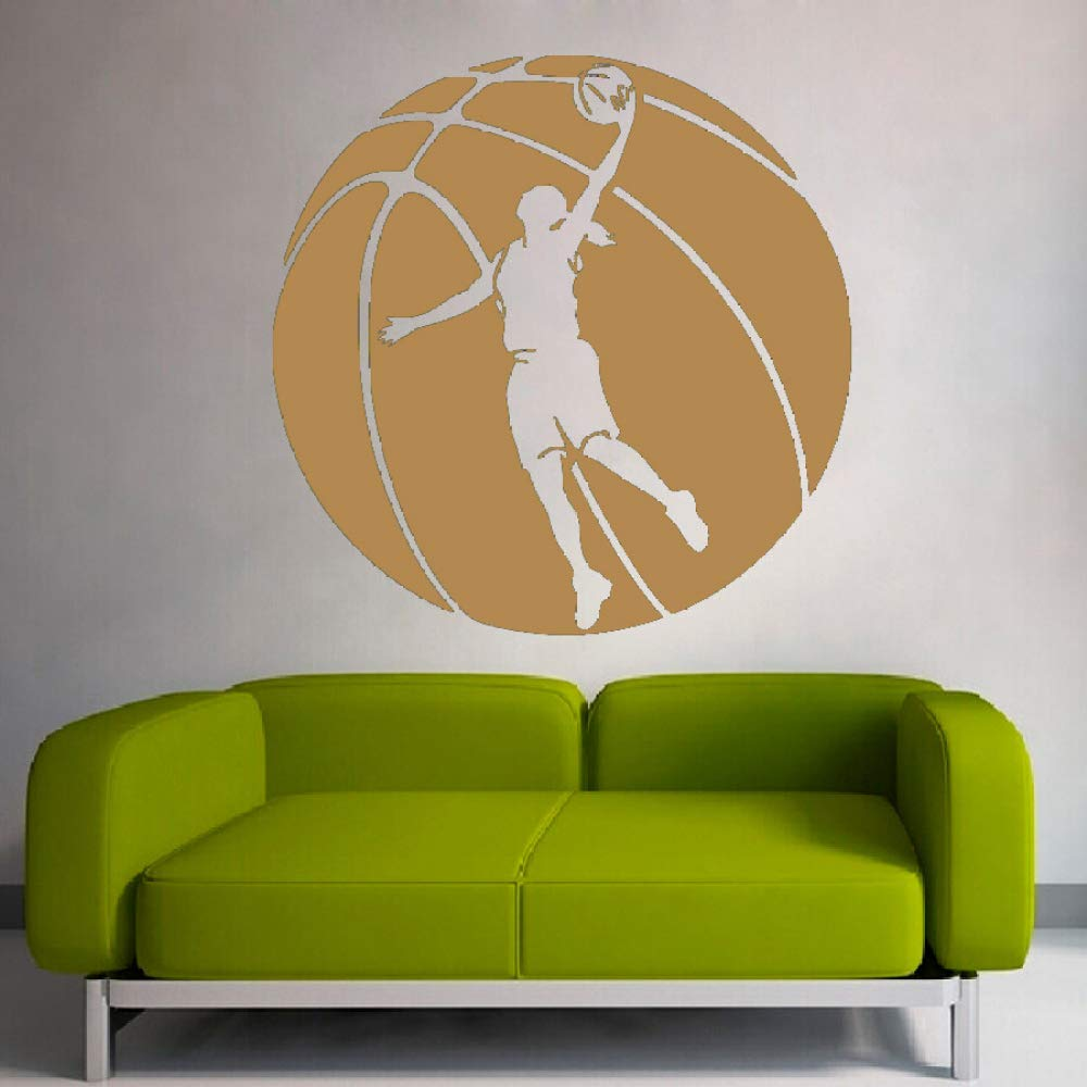Enorme patrón de baloncesto con jugador de baloncesto silueta arte ...